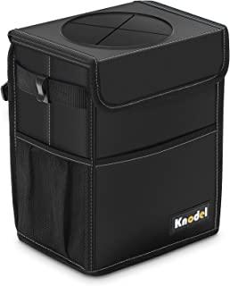 Knodel Car Trash Can, Waterproof Auto Garbage Bag, Car Trash Can with Lid, Leak-Proof Car Storage Bag, Auto Garbage Bag Ha...