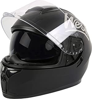 WESTT Storm X Motorrad-Integralhelm I Motorradhelm schwarz-matt I innovativer Smart-Helm I stoßfester Motorradhelm I Integralhelm Herren & Damen I Mopedhelm I ECE Zertifiziert XL- 61cm, Schwarz