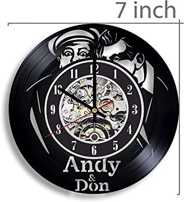 Andy and Don The Making of a Friendship Vinyl Record Wall Clock, Andy and Don The Making of a Friendship and a Classic American TV Show, Artwork, Gift, Andy and Don The Making of a Friendship Decor