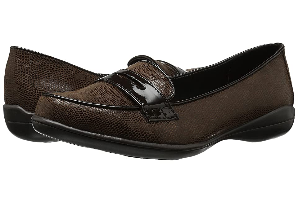 Soft Style Daly (Dark Brown Lizard/Patent) Women