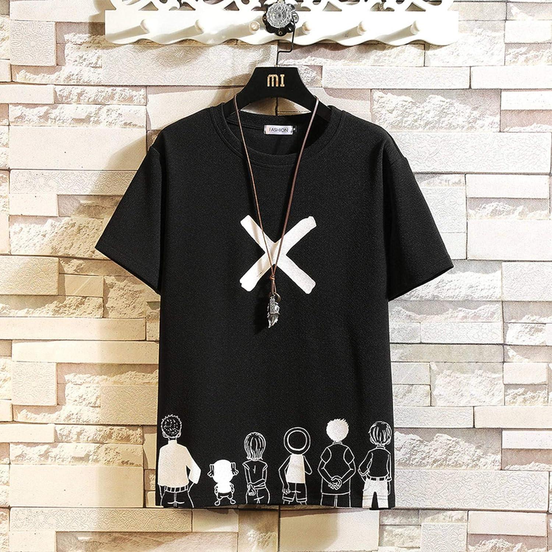 Short-Sleeved T-Shirt Men's Summer T-Shirt Classic Fashion Clothes Plus Size Funny Hip Hop Comfortable T-Shirt