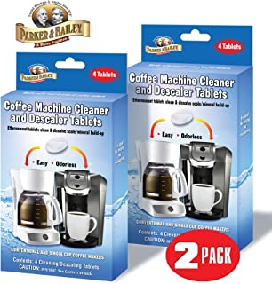 Parker & Bailey Coffee Machine Cleaner & Descaler Tablets - 2 Pack / (8 Total