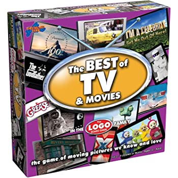 Drumond Park LOGO Best of TV and Movies Board Game Family - The Family Board Game of Moving Pictures We Know & Love | Family Games For Adults And Kids Suitable From 12+ Years