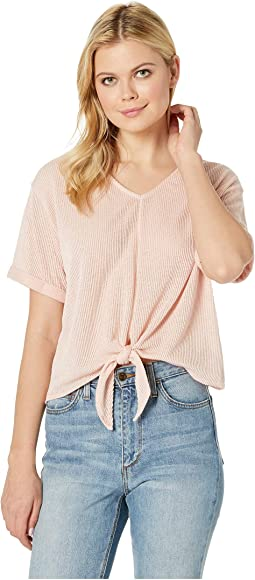 Effie V-Neck Top w/ Front Knot