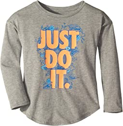Doodle Just Do It Modern Long Sleeve Tee (Little Kids)