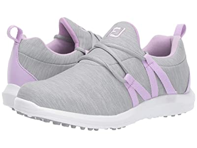 FootJoy Leisure Slip-On (Grey/Orchid Trim) Women