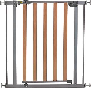 comprar comparacion Hauck Wood Lock - Puerta de seguridad madera y metal para escaleras 75 – 80 cm, ampliación con extensiones de 9cm y 21cm, ...