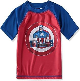 Boys Justice League Captain America Avengers Rashguard Size 5-6