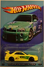 Hot Wheels Compatible Nissan Skyline GT-R R34 Yellow Custom-Made Real Rider Rubber Wheels Falkcn Racing Edition Series 1:64 Scale Collectible Die Cast Model Car