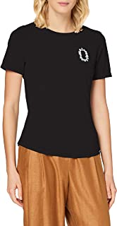 Scotch & Soda Fitted tee in organic cotton quality with chest artwork dames t-shirt