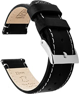 BARTON Watch Bands - Leather Quick Release Watch Strap - Top Grain Leather - Soft Leather Lining - Choice of Color & Width - 16mm, 18mm, 19mm, 20mm, 21mm 22mm, 23mm or 24mm