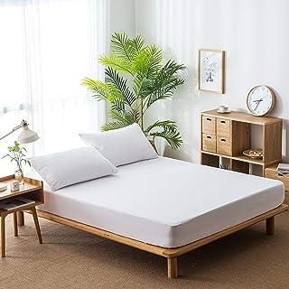 Premium Quality Plain Fitted Sheet, Soft & Cosy Fleece Bed Linen, Kingsize Bedsheet,152cmx200cm+30cm