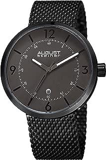 Men's Watch - Date Window On Stainless Steel Tight Mesh Bracelet Casual Watch - AS8204