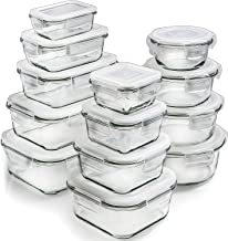 Glass Storage Containers with Lids (13-Pack) - Glass Food Storage Containers Airtight - Glass Containers with Lids - Glass...