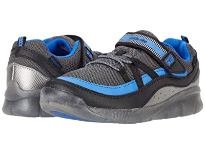 Stride Rite M2P Lighted Burst (Little Kid) (Black/Blue) Boys Shoes