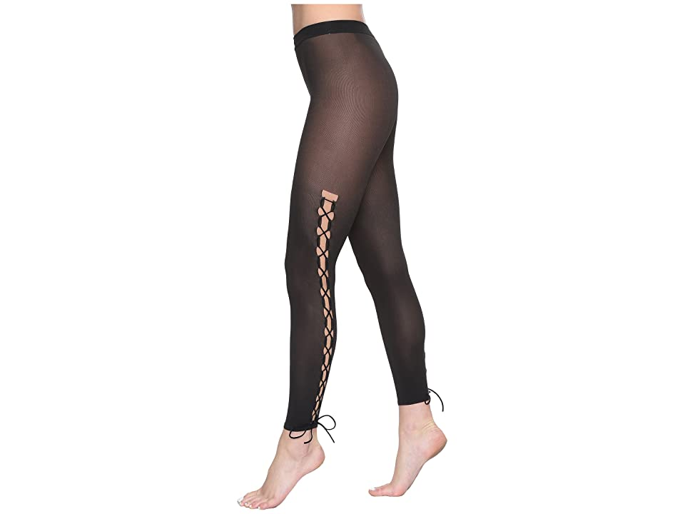 Wolford Lace-Up Leggings (Gobi/Black) Hose, Neutral
