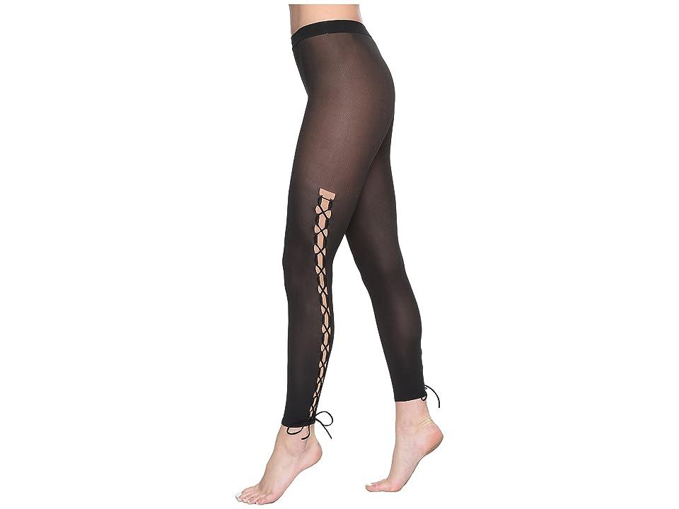 Wolford Lace-Up Leggings (Gobi/Black) Hose, Neutral