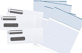 Blank Computer Check Paper-Blank Computer Check Stock- High Security Check On Top 50 Count -with 50 Double Window Envelopes for Checks