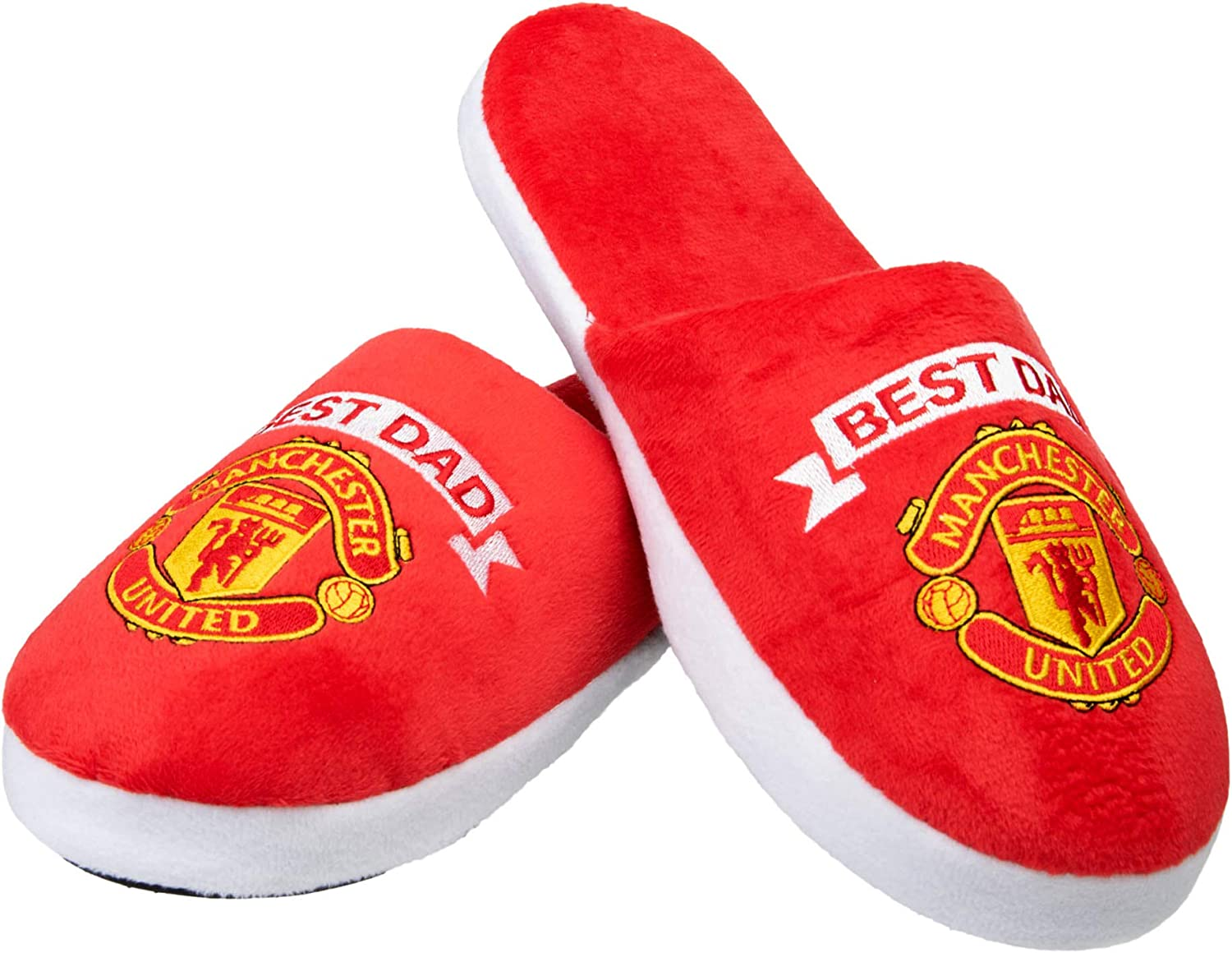 Manchester United FC FOCO Football Team Best Dad Slippers