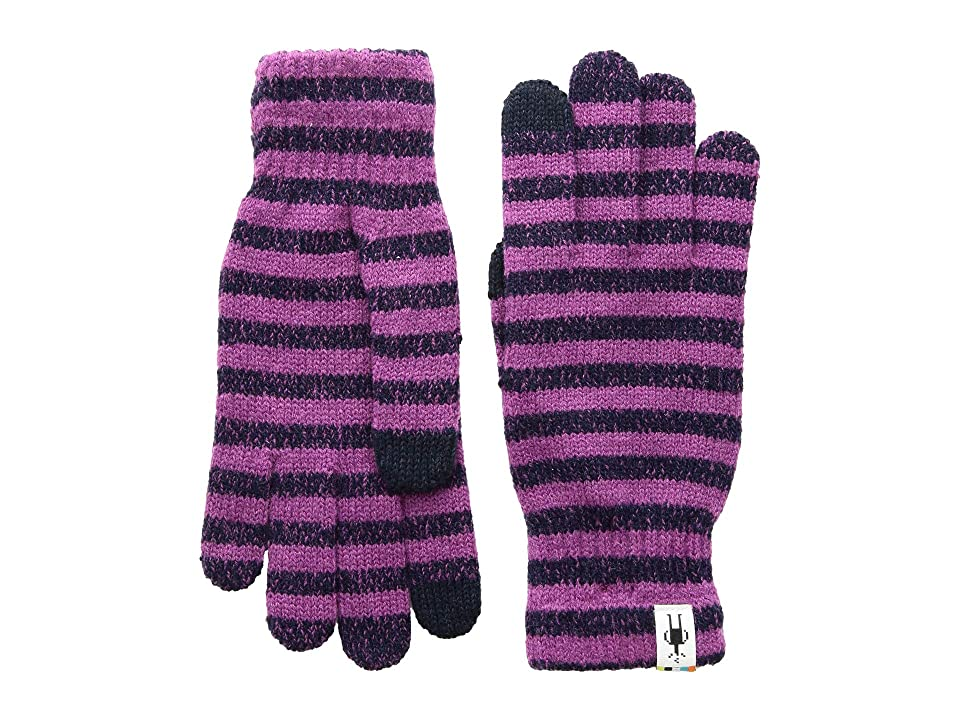 Smartwool Striped Liner Glove (Meadow Mauve Heather) Extreme Cold Weather Gloves