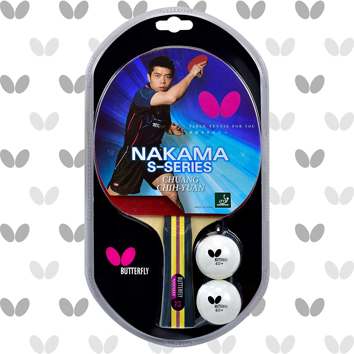 Deluxe Butterfly Nakama S2 It is very popular Shakehand Serie Racket Tennis Table