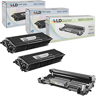 LD Compatible Toner Cartridge & Drum Unit Replacements for Brother TN650 High Yield & DR620 (2 Toners, 1 Drum, 3-Pack)