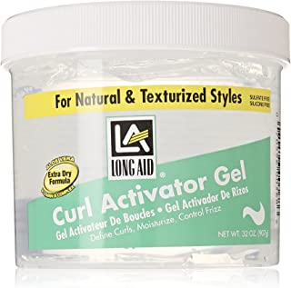Long Aid Extra Dry Hair Activator Gel, 32 Oz