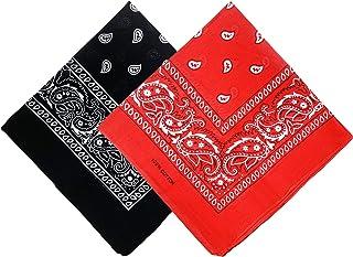 Bandana Face Mask Women Men Paisley Cowboy Headband Scarf Wristband Novelty Double Sided Print 100% Cotton