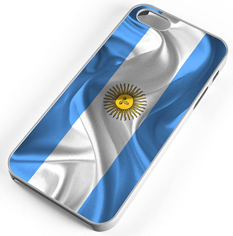 iPhone 7 Plus 7+ Case Argentina Flag National Flag Country Celeste Customizable by TYD Designs in White Plastic