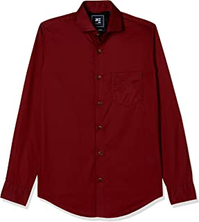Peter England Men's Solid Slim Fit Casual Shirt