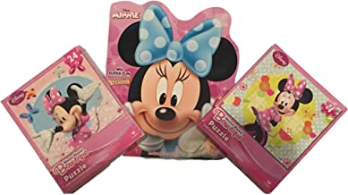 and My Super Fun Book to Color with Stickers DMM 2 Disney Minnie Mouse Bow-tique Puzzle