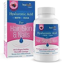 Hyaluronic Acid + Collagen Builder - Chewable Collagen Tablets for Healthy Skin, Hair, Nails - HA Collagen Booster: Vegan ...