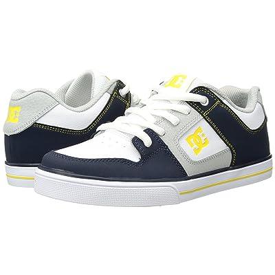DC Kids Pure (Little Kid/Big Kid) (Navy/Grey) Boys Shoes