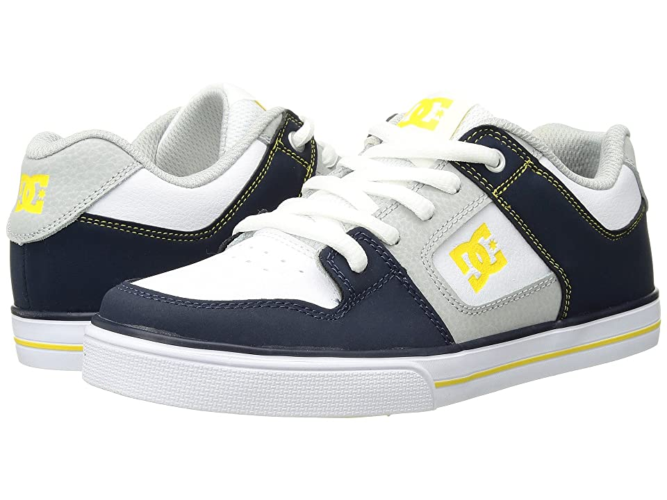 DC Kids Pure (Little Kid/Big Kid) (Navy/Grey) Boys Shoes