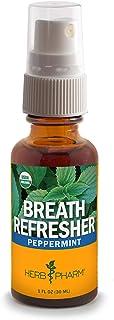 Herb Pharm Breath Refresher Certified Organic Herbal Fresh Breath Spray, Peppermint