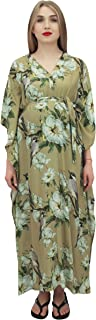 Bimba Moms Floral Printed Maternity Kaftan- with Belt Nursing Dress