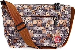 FLOCK THREE Lightweight Messenger Bag Medium Size & Water Resistant Women Men