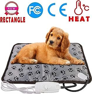 wangstar Pet Heating Pad Warm Pet Heat Pad Dogs Cats 20''x15'', Indoor Electric Heated Pet Mat Steel Chew Resistant Waterproof Small Animal Warm Mat