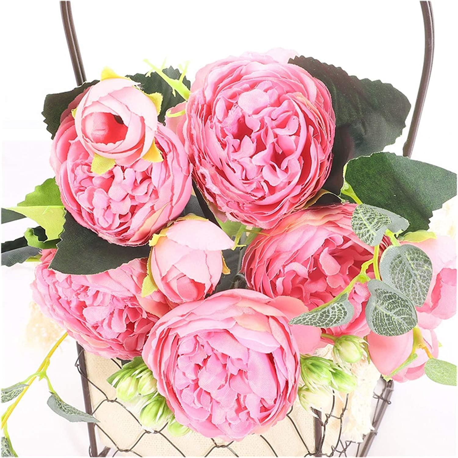 FANGLMY Artificial Selling rankings Flowers Fresno Mall Bloom Flower Peony
