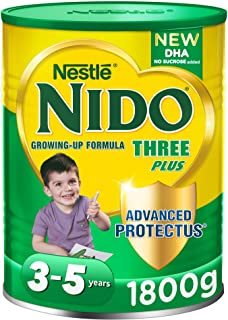 Nestlé NIDO Three Plus Growing Up Milk Powder Tin For Toddlers 3-5 Years, 1800g (Pack Of 1)