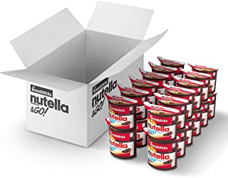 Nutella and Go Snack Packs, Chocolate Hazelnut Spread with Breadsticks, Perfect Bulk Snacks for Kids' Lunch Boxes, 1.8 Ounce, Pack of 24