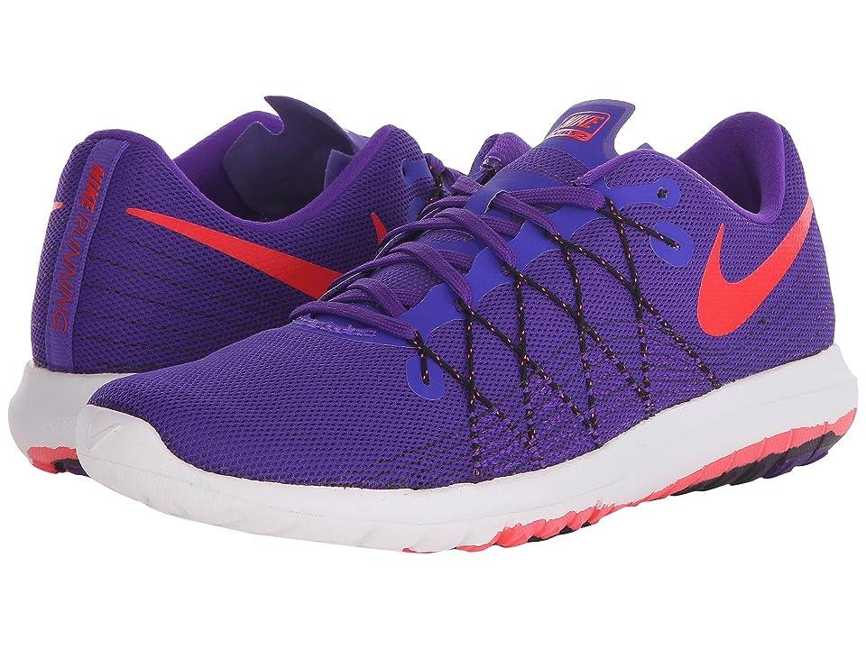 Nike Flex Fury 2 (Fierce Purple/Black/White/Bright Crimson) Women