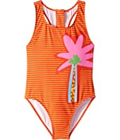 Stella McCartney Kids - Striped Palm One-Piece Swimsuit (Toddler/Little Kids/Big Kids)
