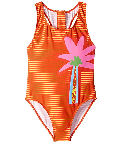 Stella McCartney Kids Striped Palm One-Piece Swimsuit (Toddler/Little Kids/Big Kids)