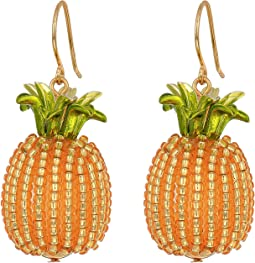 By The Pool Pineapple Drop Earrings