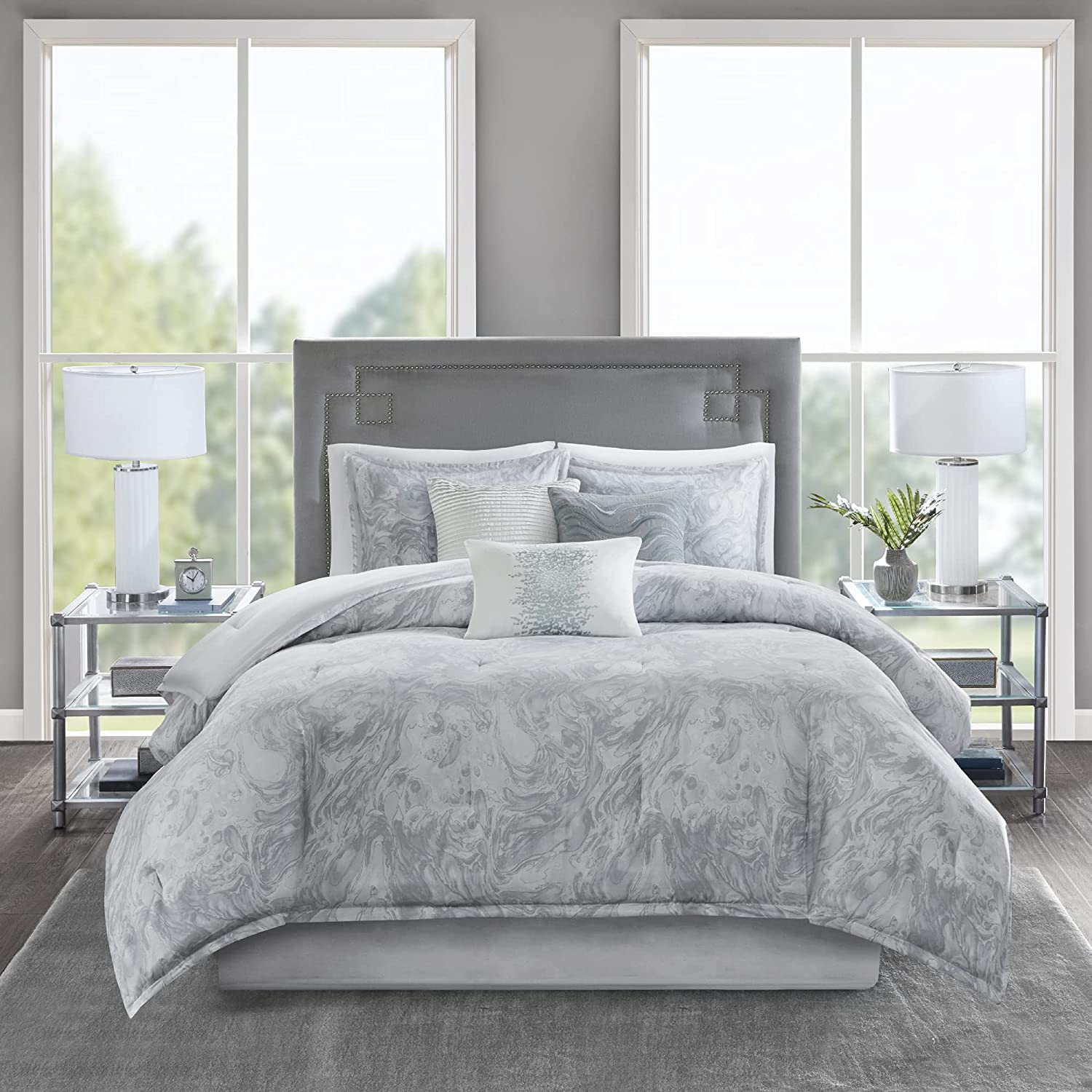 Max 81% OFF Madison Park Cozy Cotton Comforter Desig Set-Emory Marble Modern Excellence