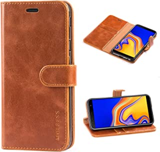 Mulbess vintage telefonfodral för Samsung Galaxy J4 Plus fodral, Samsung Galaxy J4 Plus läderfodral, flip plånbok telefonf...