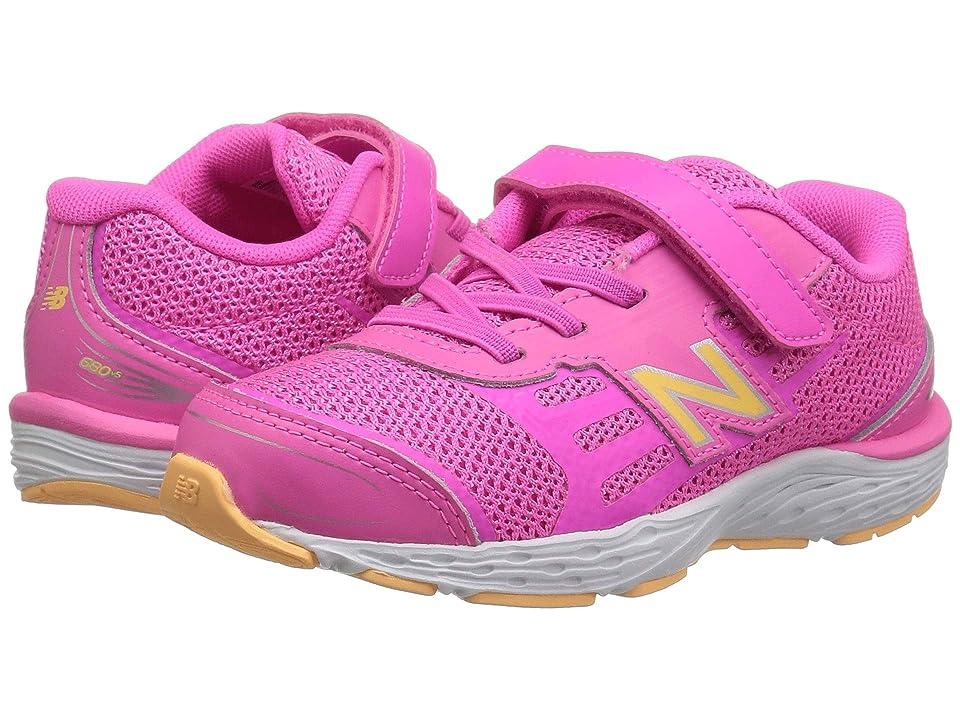 New Balance Kids IA680v5 (Infant/Toddler) (Light Peony/Light Mango) Girls Shoes