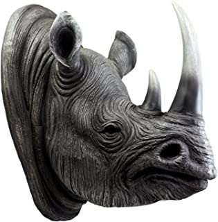 Ebros Realistic Safari Black Rhino Wall Plaque 14.5