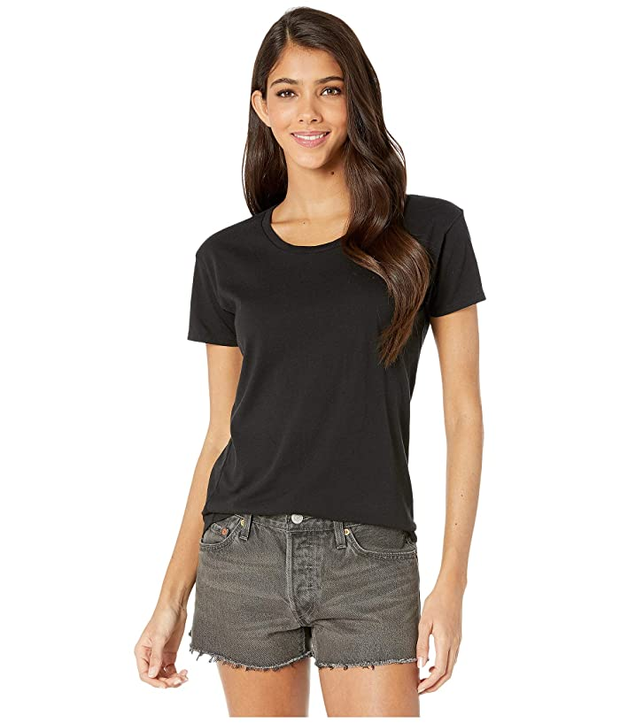 FOR BETTER NOT WORSE Coffee Helps Micro-Print Sunset Tee (House Black) Women
